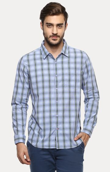 RED CHIEF | Blue Checked Casual Shirt