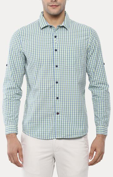 RED CHIEF   Green Checked Casual Shirt