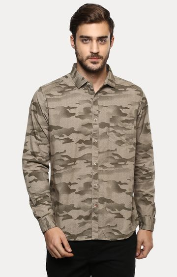 RED CHIEF | Brown Printed Casual Shirt