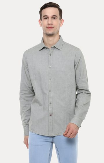 RED CHIEF | Grey Solid Casual Shirt