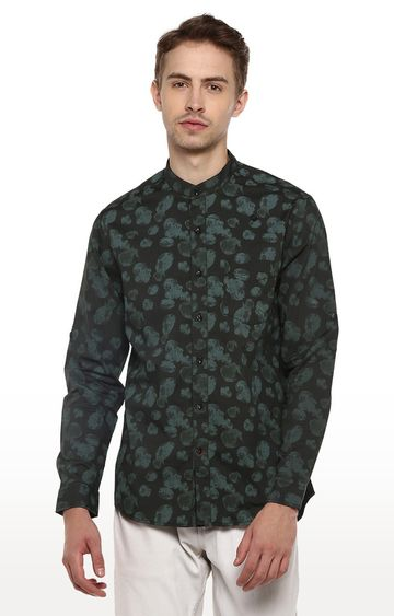 RED CHIEF | Green Printed Smart Fit Casual Shirt