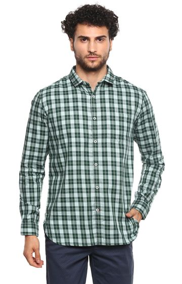 RED CHIEF | Green Checked Casual Shirt
