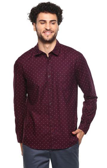RED CHIEF | Maroon Printed Casual Shirt