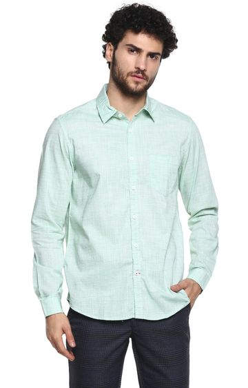 RED CHIEF | Green Solid Casual Shirt