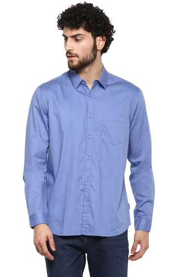 RED CHIEF | Blue Solid Casual Shirt