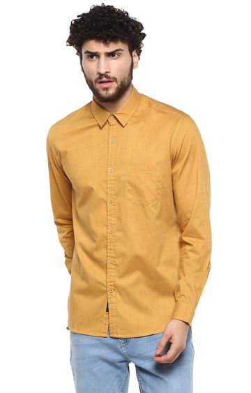 RED CHIEF | Yellow Solid Casual Shirt