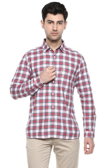 RED CHIEF | Red/Blue/White Checked Casual Shirt