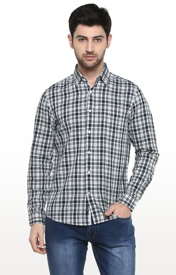 RED CHIEF   D.Navy / White Checked Casual Shirt