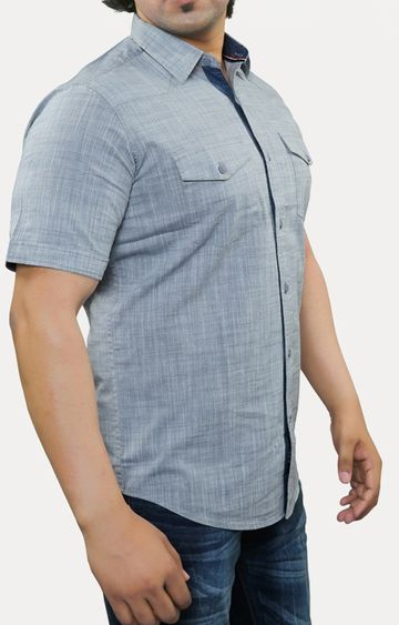 RED CHIEF | Grey Melange Casual Shirt