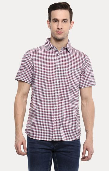 RED CHIEF | Red Checked Casual Shirt