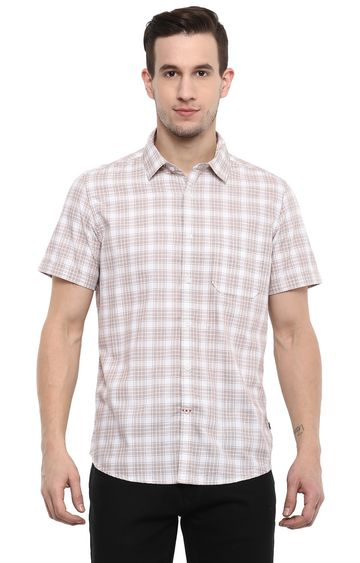 RED CHIEF | White Checked Casual Shirt