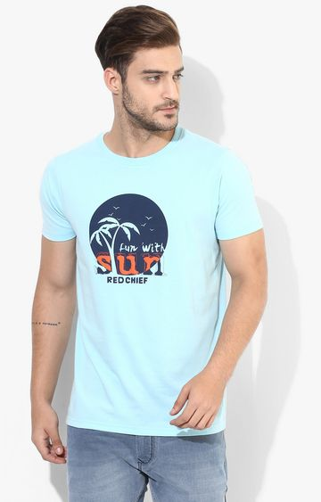 RED CHIEF | Blue Printed T-Shirt