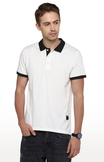 RED CHIEF   White Solid Polo T-Shirt