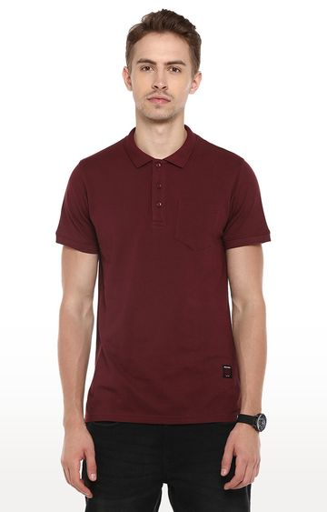 RED CHIEF | Maroon Solid Polo T-Shirt