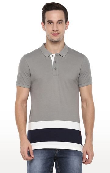 RED CHIEF | Grey Solid Polo T-Shirt