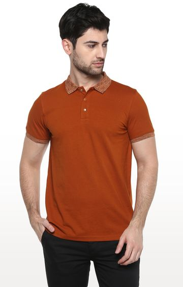 RED CHIEF | Brown Solid T-Shirt