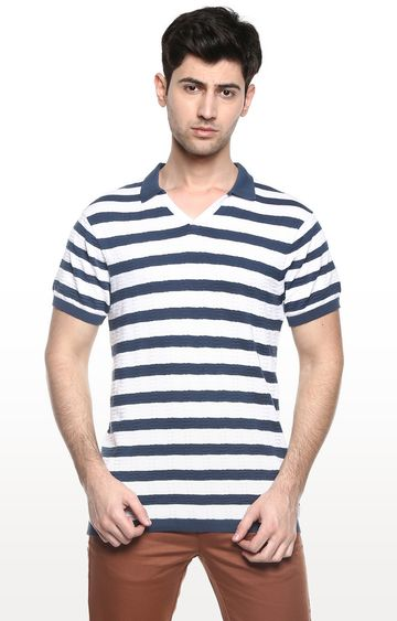 RED CHIEF | Blue & White Striped T-Shirt