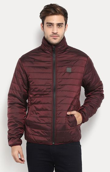 RED CHIEF | Wine Solid Bomber Jacket