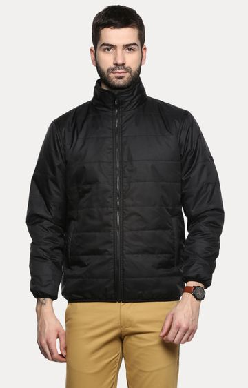 RED CHIEF | Black Solid Bomber Jacket