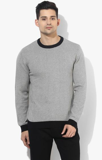 RED CHIEF | Grey Solid Sweater