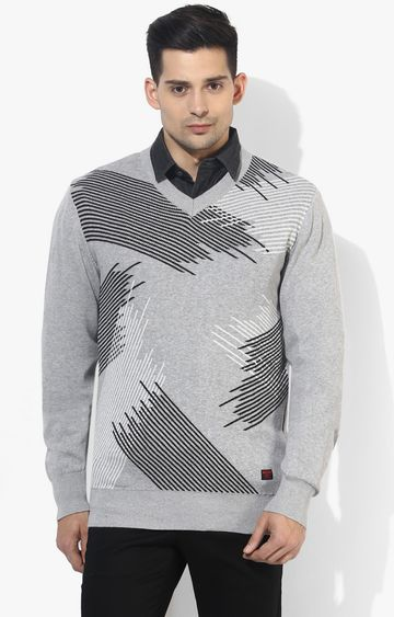 RED CHIEF | Grey Striped Sweater