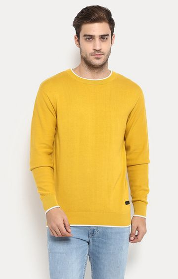 RED CHIEF | Yellow Solid Sweater