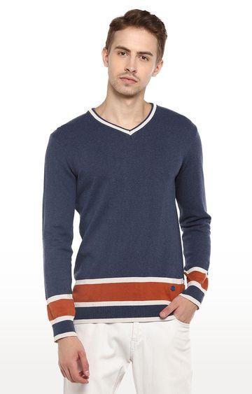 RED CHIEF   Blue Melange Sweater