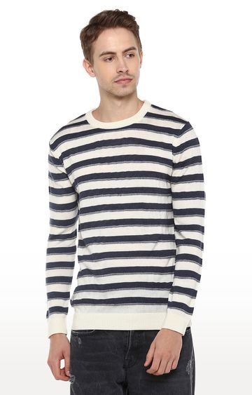 RED CHIEF | White Striped Sweater