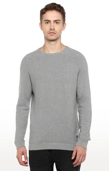 RED CHIEF   Grey Melange Sweater