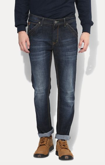 RED CHIEF | Dark Blue Washed Straight Jeans