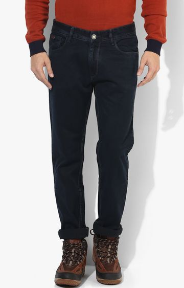 RED CHIEF | Navy Blue Solid Straight Jeans