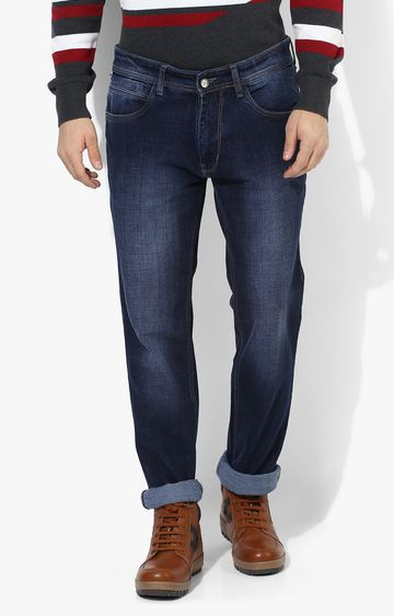 RED CHIEF | Navy Solid Straight Jeans