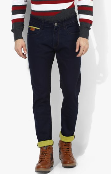 RED CHIEF | Dark Blue Solid Straight Jeans