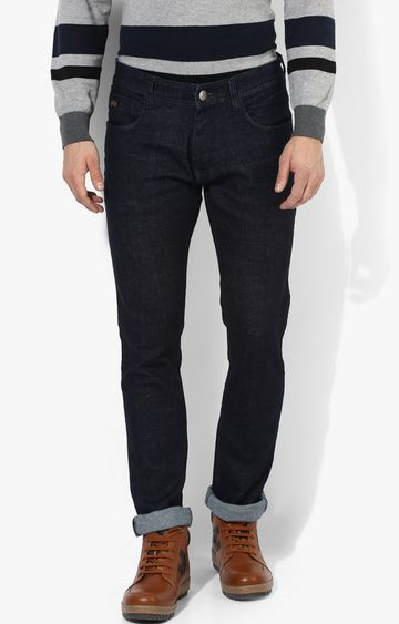 RED CHIEF   Dark Blue Solid Straight Jeans