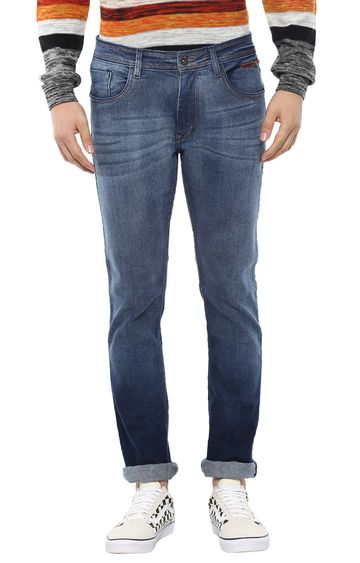RED CHIEF | Blue Solid Straight Jeans
