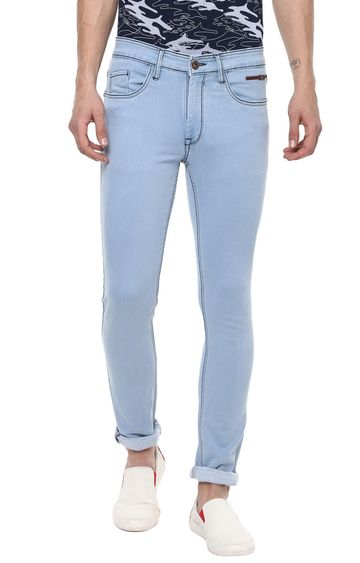 RED CHIEF | Blue Solid Tapered Jeans