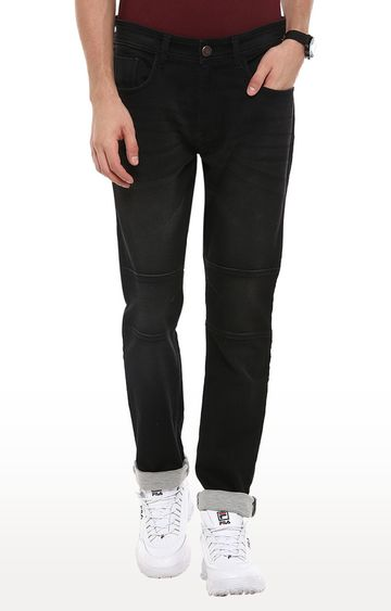 RED CHIEF   Black Solid Narrow Fit Jeans