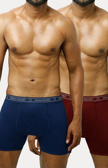 RED CHIEF | Maroon and Blue Trunks - Pack of 2