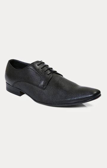 RED CHIEF   RC1342A 001 - Black Derby Shoes