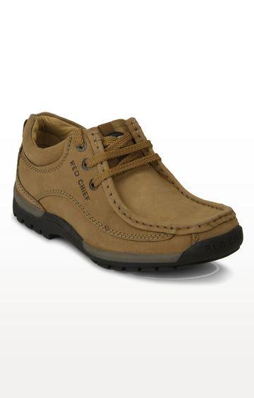 RED CHIEF   Khaki Hiking Shoes