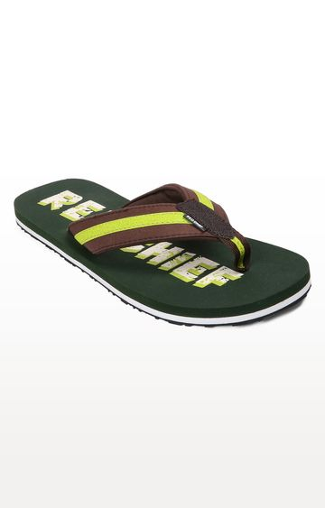 RED CHIEF   RC3469 1160 - Green & Brown Flip Flops