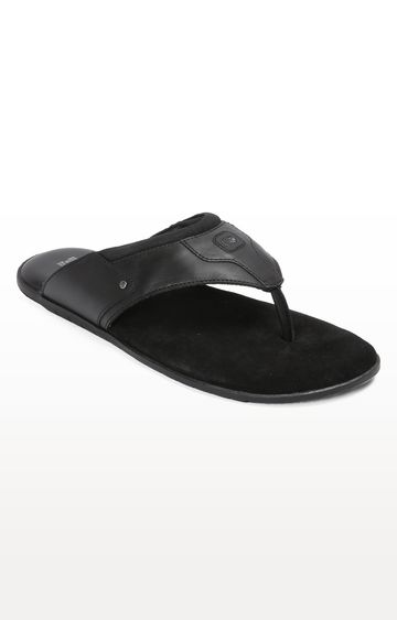RED CHIEF | RCOF8006 001 - Black Slippers