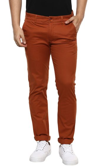 RED CHIEF | Maroon Straight Chinos
