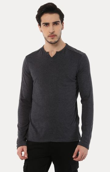 celio | Abelong Grey Solid T-Shirt