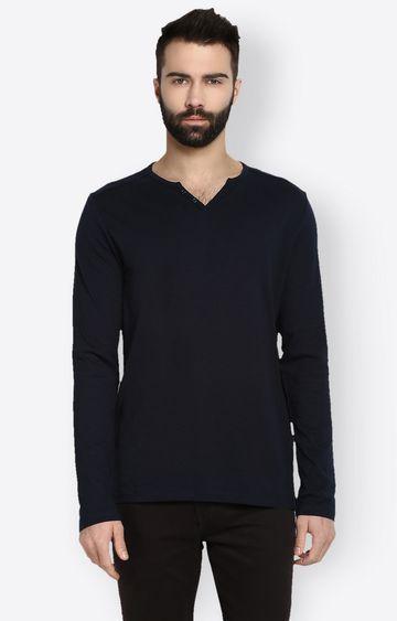 celio | Navy Solid T-Shirt