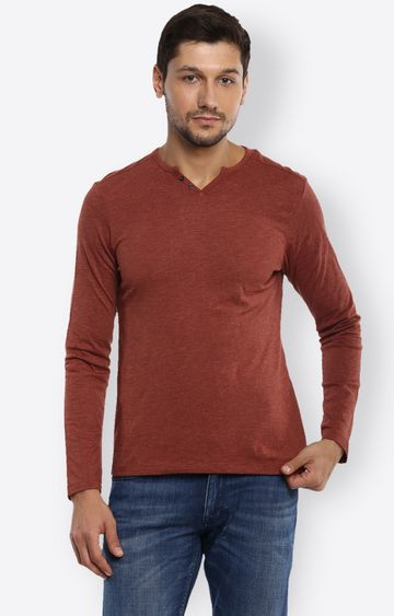 celio | Red Melange T-Shirt