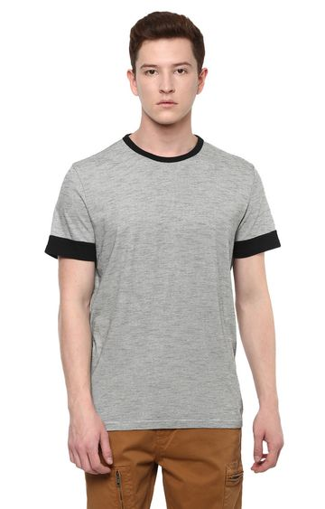 celio | Grey Striped T-Shirt