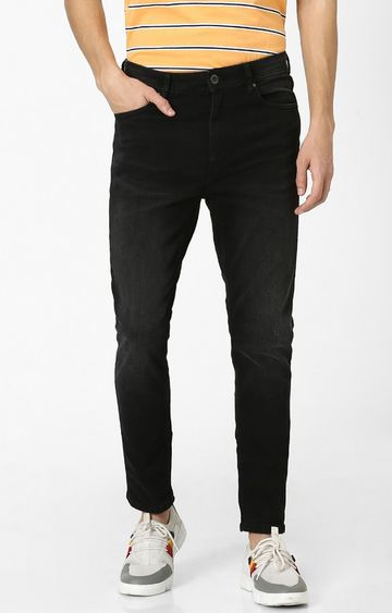celio | Black Solid Carrot Fit Jeans