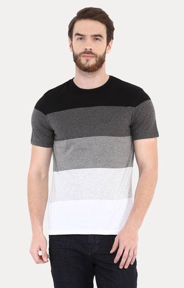 celio   Black Striped T-Shirt
