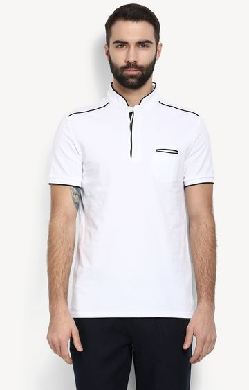 celio | White Solid T-Shirt